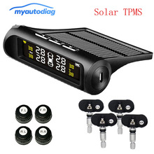 Car solar TPMS Internal / External Sensor tire pressure monitor wireless tire pressure monitoring alarm system LCD color display tpms tire pressure monitor system car alarm system diagnostic tool wireless solar powered color lcd display