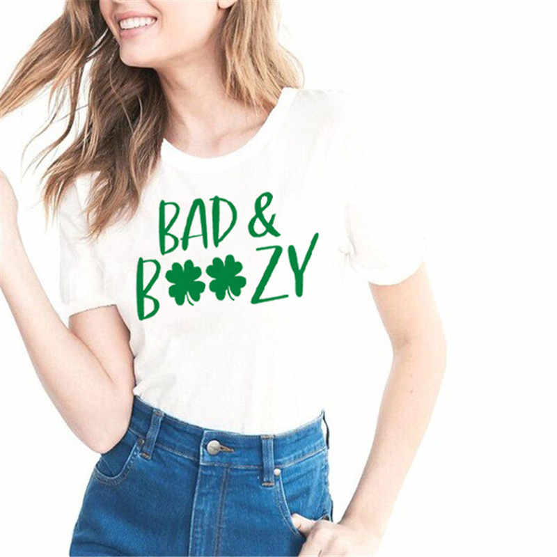f77887f70 Bad And Boozy Patricks Day Shirt Drinks Well With Others Let'S Get Ready To  Stumble,