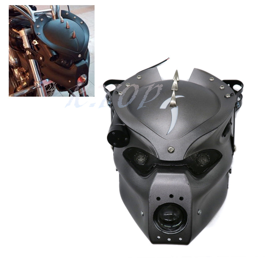 1 set motorcycle led skull head light headlight lamp with. Black Bedroom Furniture Sets. Home Design Ideas