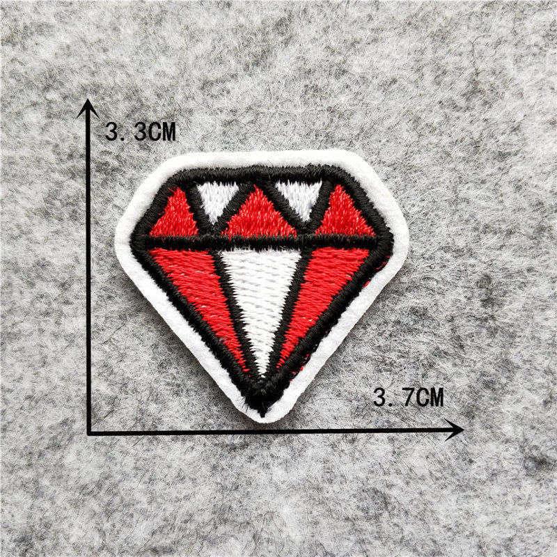 Мультяшная декоративная заплатка, сердце, дерево, Бабочка, узор, вышитая аппликация, нашивки для DIY, железные наклейки на одежду - Цвет: C6249