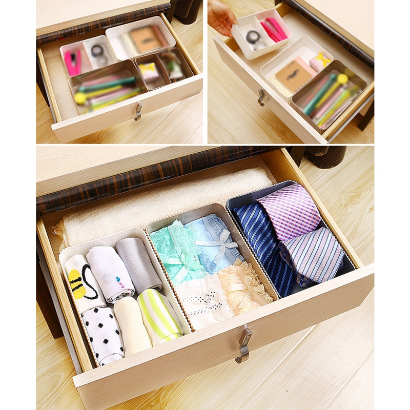 Image 4 - Desktop Comestics Makeup Storage Box Household Skin Care Product Storage Box Vertical Grain Saving Space-in Makeup Organizers from Home & Garden