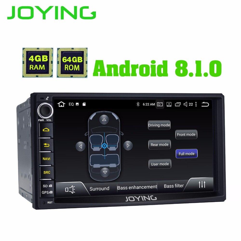 Nouveau produit Double 2Din 4 GB + 64 GB unité de tête Android universel autoradio stéréo multimédia pas de lecteur de musique DVD avec intégré DSP