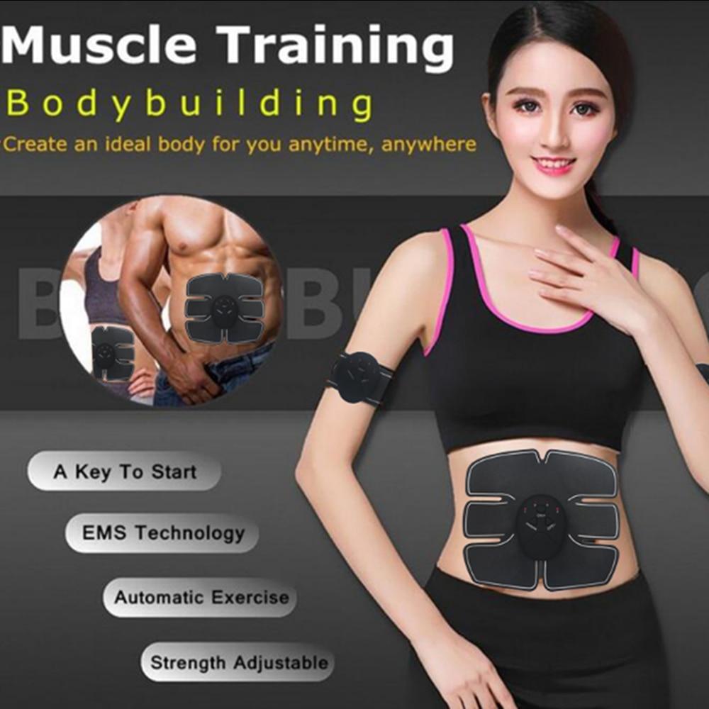 Electric Muscle Abdominal Stimulator Body Massage Abdominal Muscle Exerciser Training Machine Fat Burning Fitness Massage Unisex