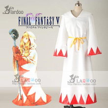Hot Game Final Fantasy XIV White Mage Cosplay Costume White Red Robe Any Size Anime Clothing
