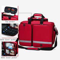 Apteczka na zewnątrz chłodnicza sportowa czerwona nylonowa wodoodporna krzyżowa torba podróżna rodzinna torba medyczna do nagłych wypadków DJJB026