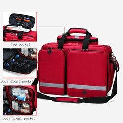 Außen Erste Hilfe Kit Refrigeratible Sport Rot Nylon Wasserdichte Quer Umhängetasche Familie Reise Notfall Medizinische Tasche DJJB026