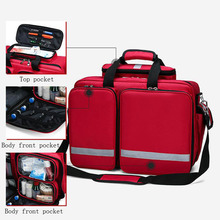 Outdoor First Aid Kit Refrigeratible Sports Red Nylon Waterproof Cross Messenger Bag Family Travel Emergency Medical Bag DJJB026