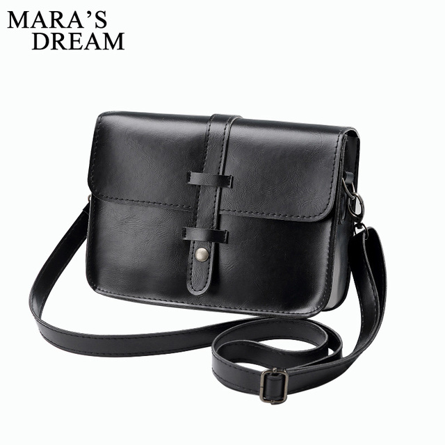 2c1dd0ee0e Mara s Dream 2018 Handbag Women Vintage PU Leather Women Bag Fashion Hasp Small  Women Messenger Bag Single Strap Shoulder Bag