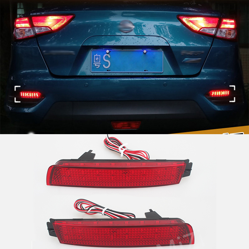 LED Rear Bumper Reflector 2 Pcs Red Lens 24-SMD Car LED Tail Brake Light For Infiniti FX37/50/Nissan/Sentra/Juke/Murano/Quest светильник 3d light fx авто red