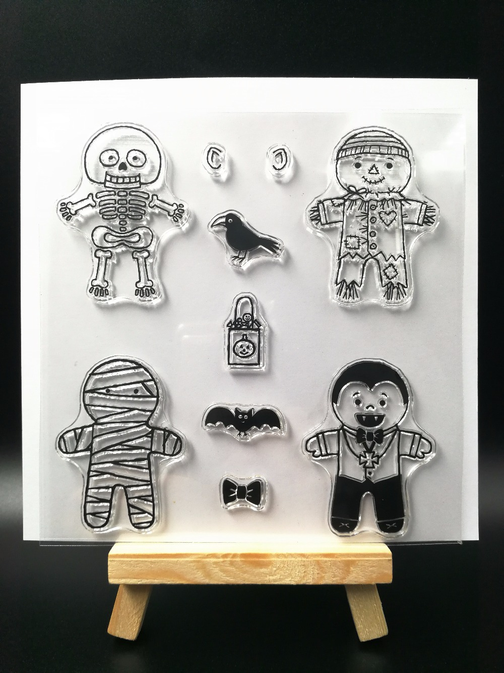 Halloween Transparent Clear Silicone Stamp/Seal for DIY scrapbooking/photo album Decorative clear stamp sheets H131