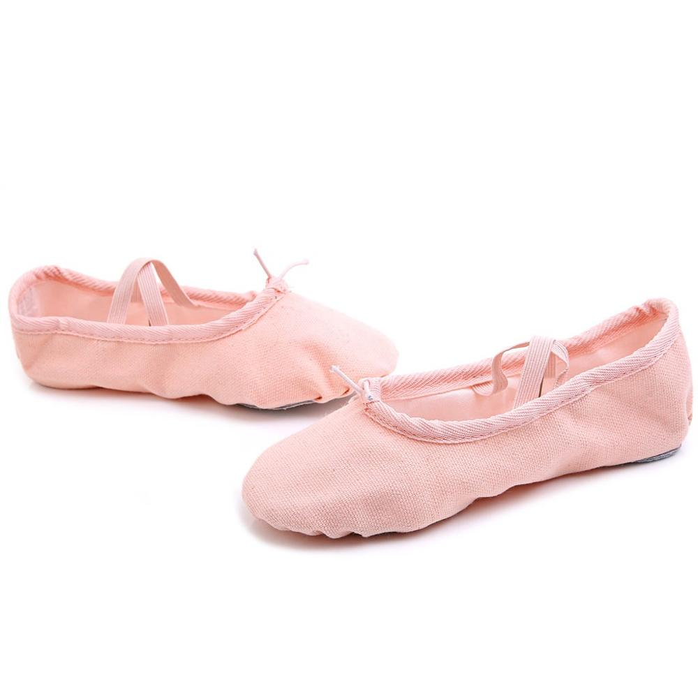 Women Dance Yoga Ballet Point Dance Fitness Gymnastics Soft Bottom Dance Shoes Girls Practice Stage Footwear Pink Black