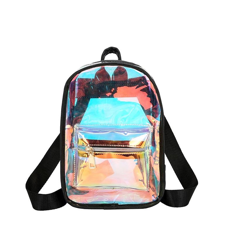 100% Wahr 2019 Frauen Kleine Rucksäcke Reisetaschen Mini Laser Frauen Mädchen Schulter Tasche Holographische Rucksack Mochila Sac A Dos