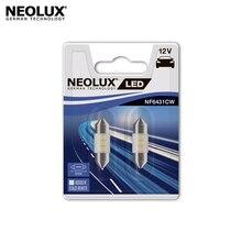 Светодиодная лампа Neolux NF6431CW-02B C5W цвет холодный белый 12В 0.5Вт 6000K (2 шт)