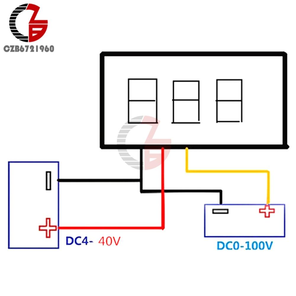 HTB1tPWYKr1YBuNjSszeq6yblFXab 0.28 inch DC LED Digital Voltmeter 0-100V Voltage Meter Auto Car Mobile Power Voltage Tester Detector 12V Red Green Blue Yellow