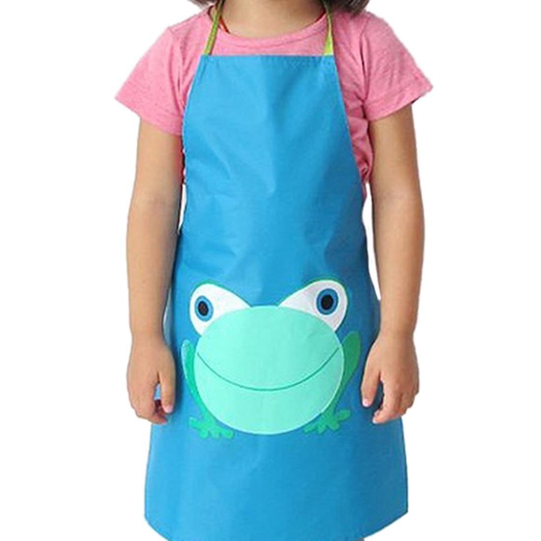 Newly Kid Children Lovely Waterproof Apron Cartoon Frog For Boy Girl ...