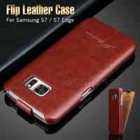 PU Leather Skin Flip Case Cover For Samsung Galaxy S7 Edge G9350 Top Open Vintage Style