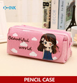 Large Capacity Cartoon Cute Girls Pencil Case , Beautiful School Case for Girls