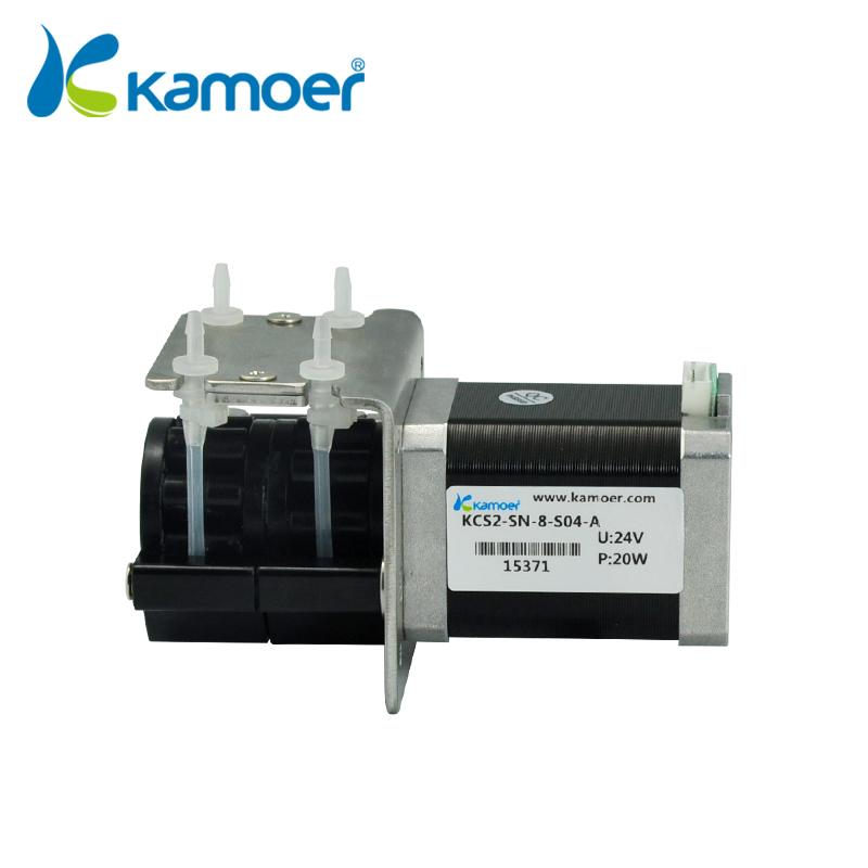 Kamoer KCS2 mini peristaltic pump stepper motor 12V/24V electric water pump high precision dosing pump toothed belt drive motorized stepper motor precision guide rail manufacturer guideway