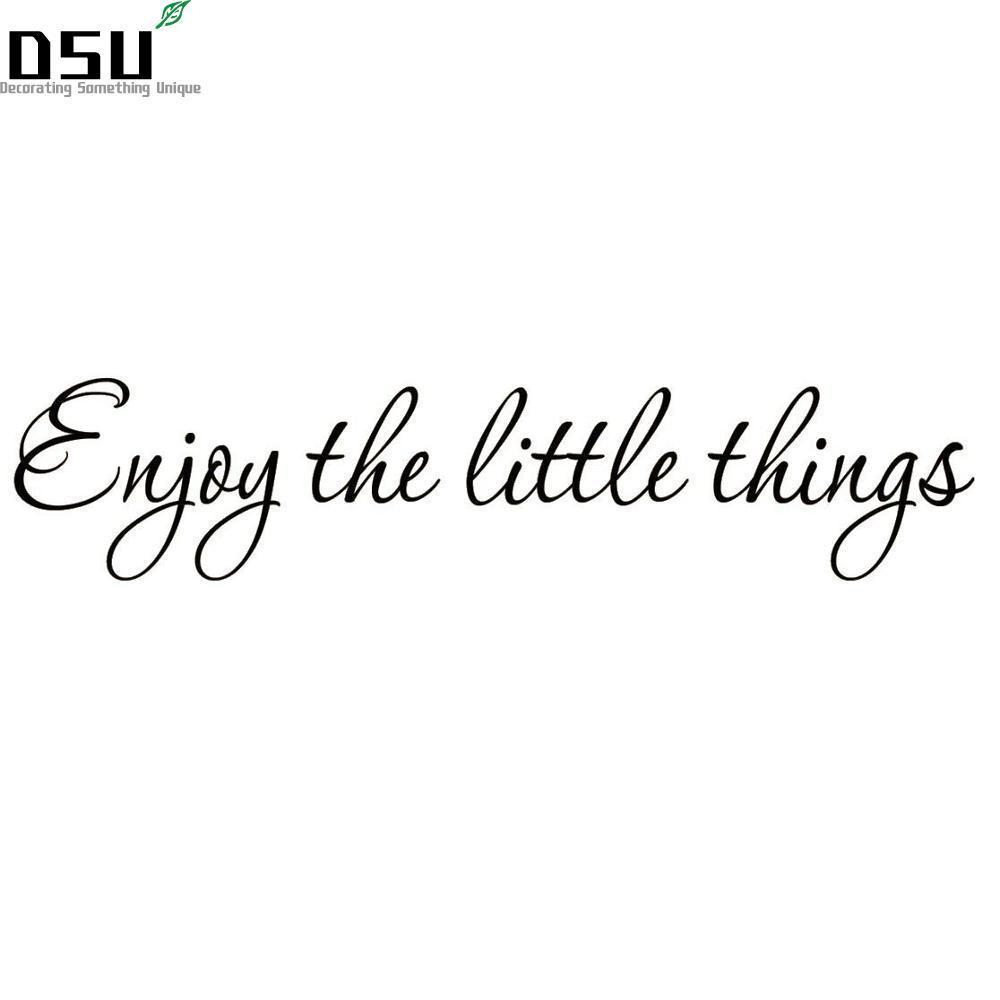 english famous quote enjoy the little things vinyl wall decal
