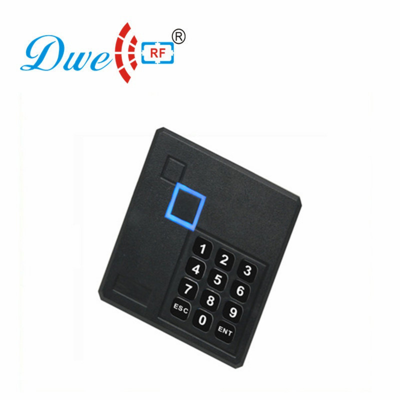 DWE CC RF Standalone Access Controller EM ID or MF Card Reader External Support With 10pcs RFID Keyfobs DW-03 metal rfid em card reader ip68 waterproof metal standalone door lock access control system with keypad 2000 card users capacity