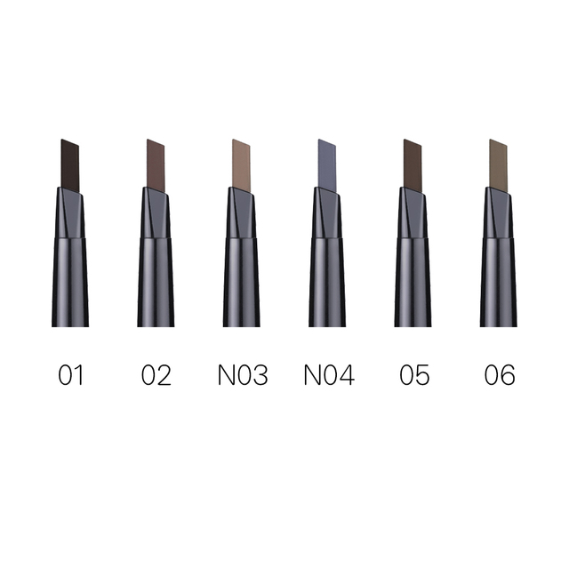 BONNIE CHOICE Eyebrow Pencil Long Lasting Waterproof Automatic Eyebrow Pen Eye Brow Tint 3Pcs Stencils Grooming Kit Makeup Tool 1