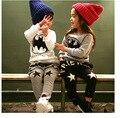 2016 outono/inverno nova moda com calças de veludo espessamento quentes harem pants crianças 2-8 anos crianças calças meninos calças meninas
