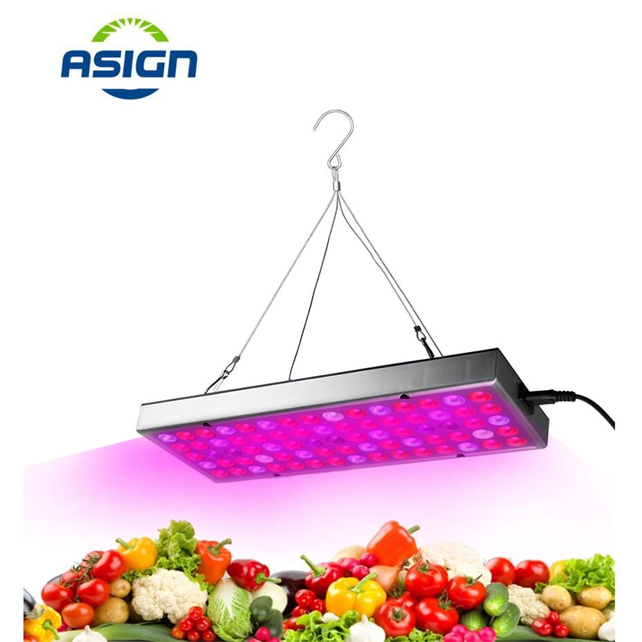 Grow Light 25W 75Leds IR UV Led Grow Light Full Spectrum Fitolampy Plant Grow Light 1000Lm 110V 220V Led Plant Grow Lights Panel