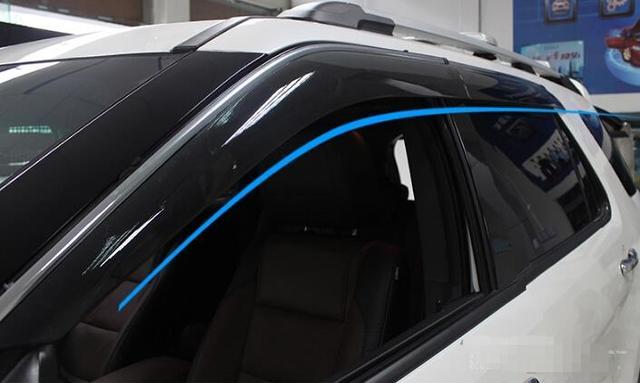 high quality ! Window Visors Awnings Wind Rain Deflector Visor Guard Vent 4 pcs / Set For Ford Explorer 2011-2014