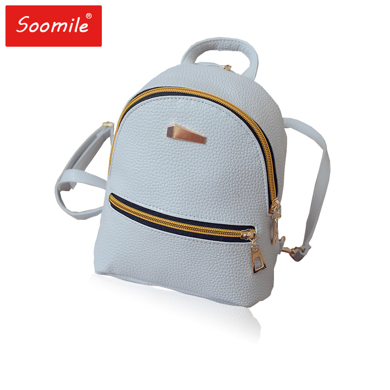 Mini Women Backpack cute pink PU leather backpacks Children Teenager Female Girls Shoulder Bag Back Pack small mochila bagpack