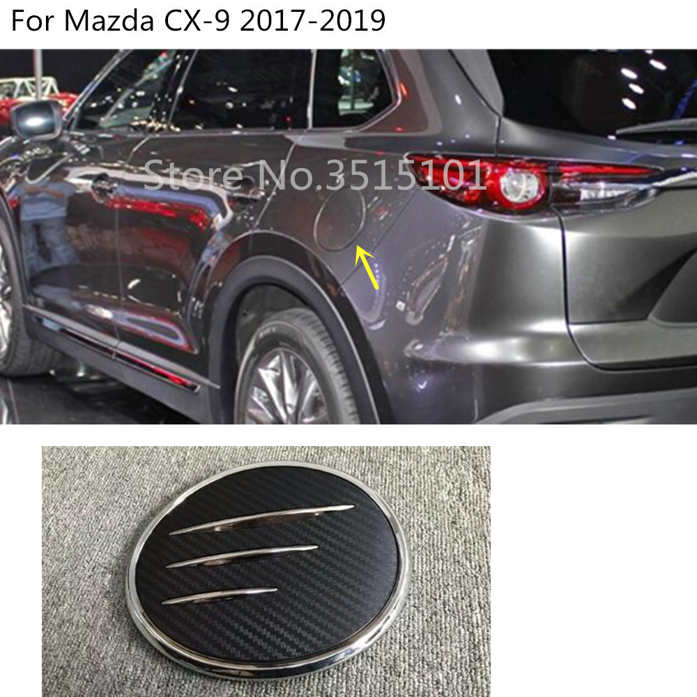 Car Body Gas/Fuel/Oil Tank Cover Cap Sticker Styling ABS Chrome Auto Car Hoods 1pcs For Mazda CX-9 CX9 2017 2018 2019