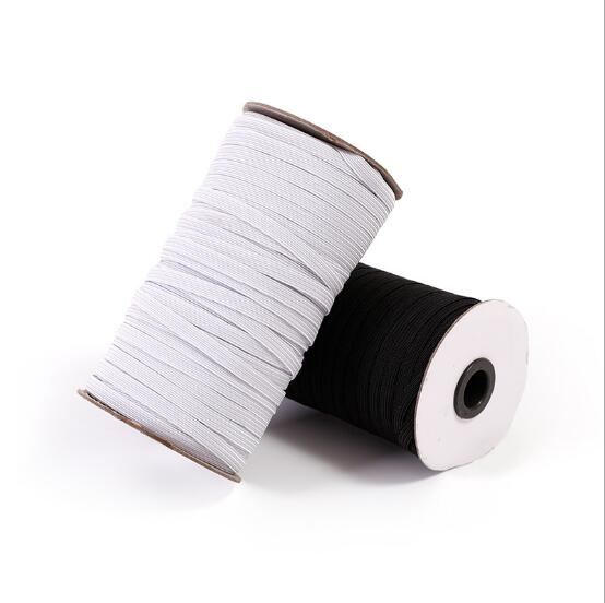 3mm 5mm 6mm Face Mask Rubber Band Ear Band Elastic Stretchy Bands Flat Cord High Elastic Band White Black
