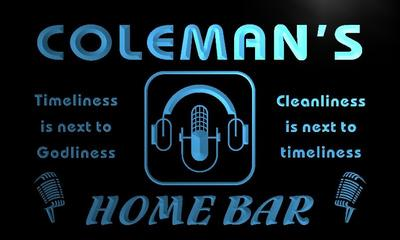 x1082-tm Colemans Home Bar Custom Personalized Name Neon Sign Wholesale Dropshipping On/Off Switch 7 Colors DHL