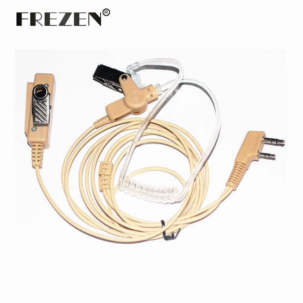 Beige Flesh Color Covert Acoustic Tube Earpiece Headset Mic For Kenwood BAOFENG UV-5R Two Way Radio