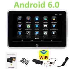 10,1 Android подголовник lcd полный сенсорный экран поддержка 1080 P видео игра wifi четырехъядерный Android 6,0 подголовник заднего сиденья монитор