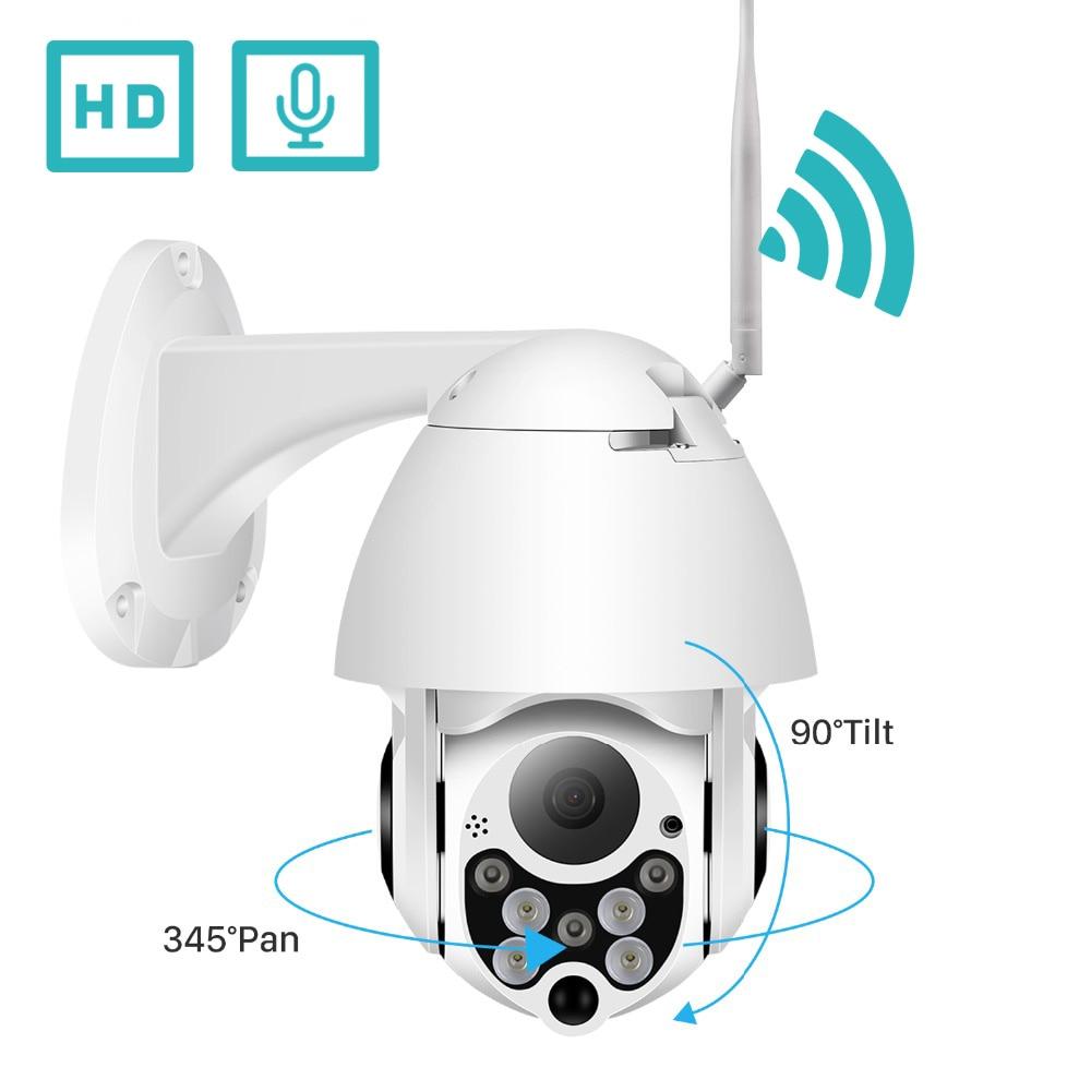 BESDER 1080P PTZ IP Camera Waterproof Speed Dome Wifi Camera Pan Tilt 4X Digital Zoom IR