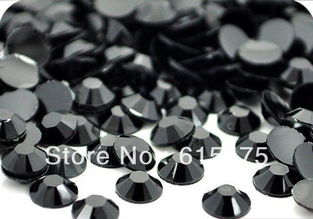 4mm Black Jet Color,SS16 crystal Resin rhinestone flatback,Free Shipping 50,000pcs/bag 5mm black diamond color ss20 crystal resin rhinestones flatback free shipping 30 000pcs bag