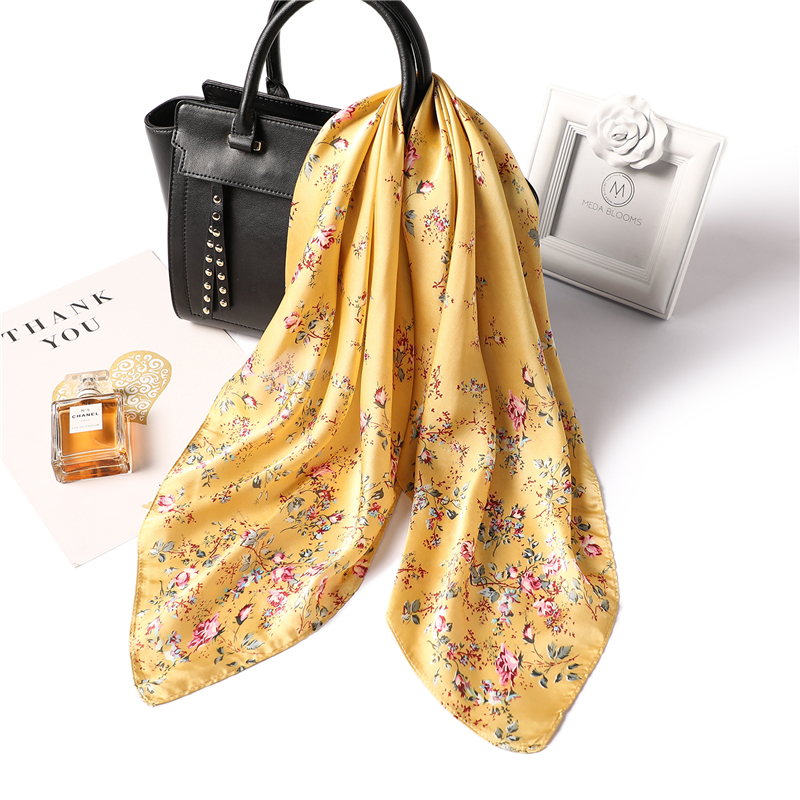 High Quality Silk Scarf  Ladies Elegant Small Square Scarf Head Scarf High Quality Spring Autumn Fashion Scarves