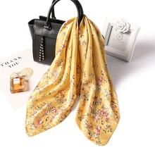 High Quality Silk Scarf  Ladies Elegant Small Square Head Spring Autumn Fashion Scarves