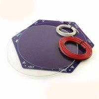 1set Delta 3D Printer Kossel Mini Reprap Hex Heated Bed 170mm diameter Glass plate Thermistor Wiring