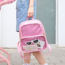 Women Transparent Backpacks Rucksack Handbags School Bag Shopping Travel Hiking Bags
