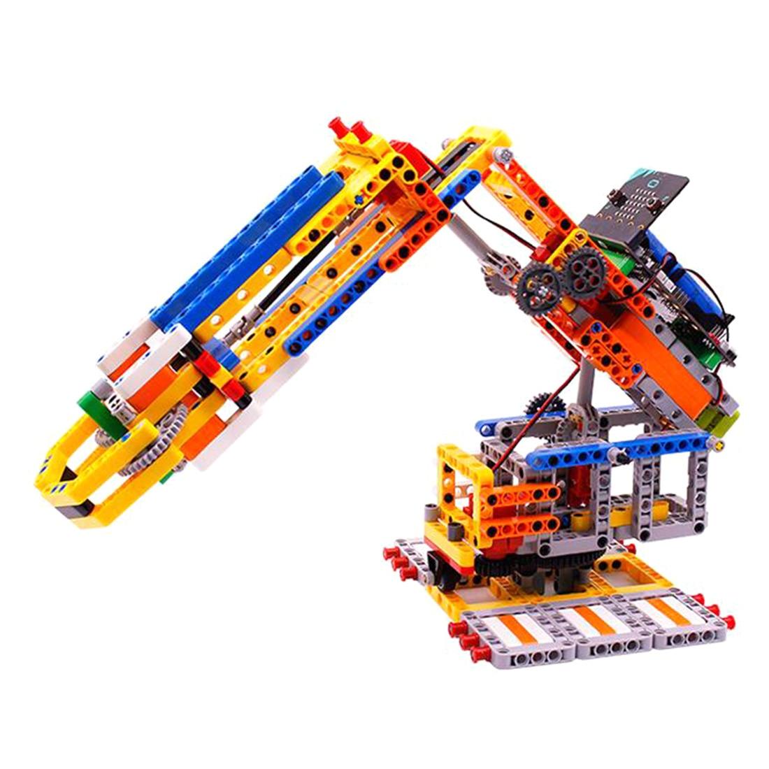 MODIKER 2019 New for Micro:bit Programmable Building Block DIY Smart Robotic Arm Kit High Tech Toys Gift