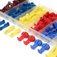 96PCS Yellow Red Blue Quick Fast Splice Wire Connector Terminal Crimp 22 12AWG 0 5 4