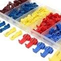 96 pces amarelo/vermelho/azul rápido rápido fio de emenda conector terminal friso 22-12awg/0.5-4.0mm 6 tamanho tubo de psiquiatra de calor sleeving kits