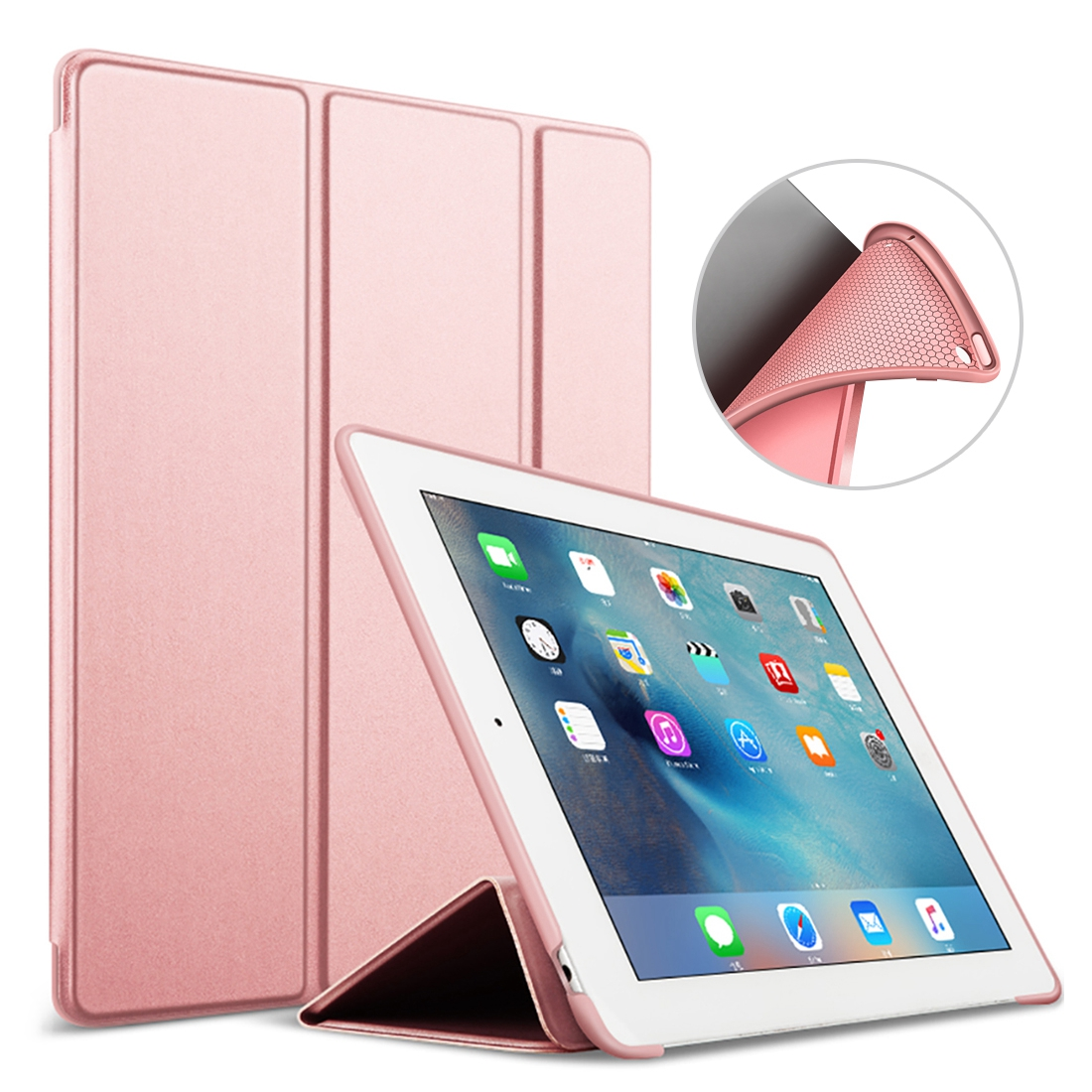 sports shoes 2d8c8 91556 For Apple Ipad Air 2 Case Cover 9.7 Inch PU Leather With Silicone Soft Back  Case For Ipad Air 2 / Ipad 6 Funda A1566/A1567 Sleep