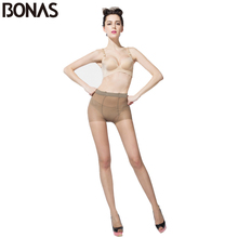 BONAS 2018 Women Big Size Pantyhose Sexy Breathable 30D Nylon Large Tights Female High Elasticity Transparent Stockings Rajstopy