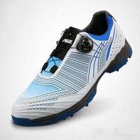 נעלי גולף עור השכבה הראשונה גברים ידיות נוחות לנשימה בד כותנה שרוכי נעליים עמיד למים מקצועי נגד החלקה אחיזה טובה