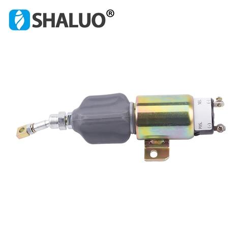 12 v gerador parada de combustivel desligue solenoide 12 v 24 v