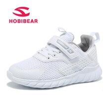 HOBIBEAR Running Children's Shoes Boys Sneakers Girls Sport Shoes Net Mesh Fabric Hook&Loop schoenen Kids Anti-Slippery Sneakers