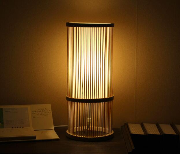 Bamboo Table Lamp Fabric Shade Nordic Creative Style Living Room Bedroom Study Bedside Reading Hotel Table Desk Lamp E27 Base tuda free shipping k9 crystal table lamp european style table lamp high level fabric shade table lamp fo bedroom hotel