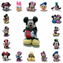 1PCS PVC Cartoon Icon Mickey Brooch Pins Badge Cute Minnie Anime Figure Pins Button Badge Backpack Clothes Hat Decor Kids Gift(China)